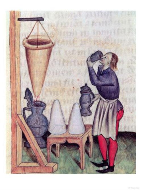 欧洲当时的净水器宣传插画